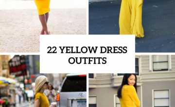 Outfits With Yellow Dresses