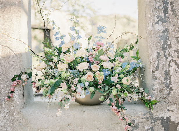Organic wedding centerpiece - Ashley Rae Photography