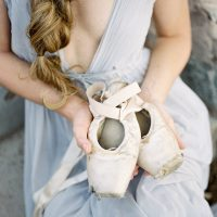 Wedding ballet shoes - Ashley Rae Photography