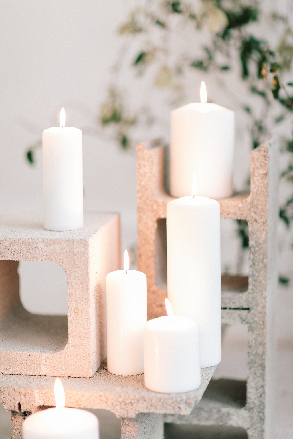 candlelit weddings - photo by Julien Bonjour Photographe http://ruffledblog.com/airy-industrial-wedding-inspiration-for-spring