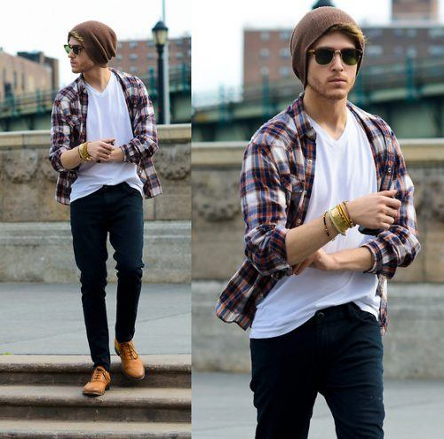 Flannel Outfit Ideas for Men (12)