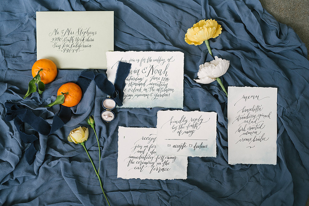 wedding stationery - photo by Ashlee Brooke Photography http://ruffledblog.com/summertime-citrus-wedding-inspiration