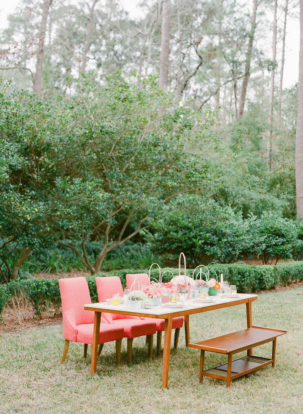 backyard receptions - photo by The Happy Bloom http://ruffledblog.com/happy-bright-easter-party-inspiration