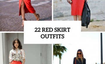 Excellent Outfits With Red Skirts