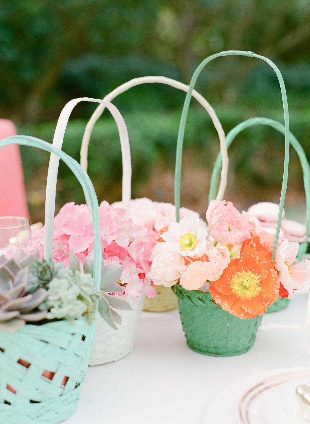 Easter ideas - photo by The Happy Bloom http://ruffledblog.com/happy-bright-easter-party-inspiration