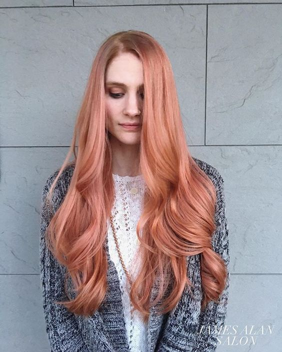 long blorange hair with waves for a trendy statement