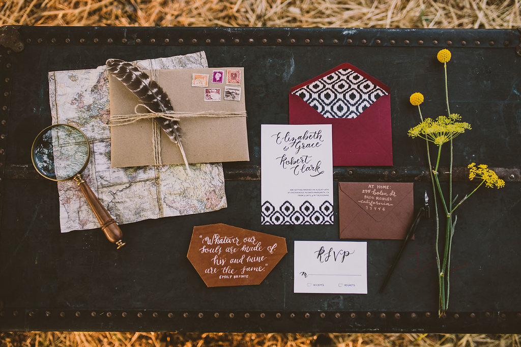wedding stationery - photo by Michelle Roller http://ruffledblog.com/wild-safari-inspiration-shoot-with-a-jeep