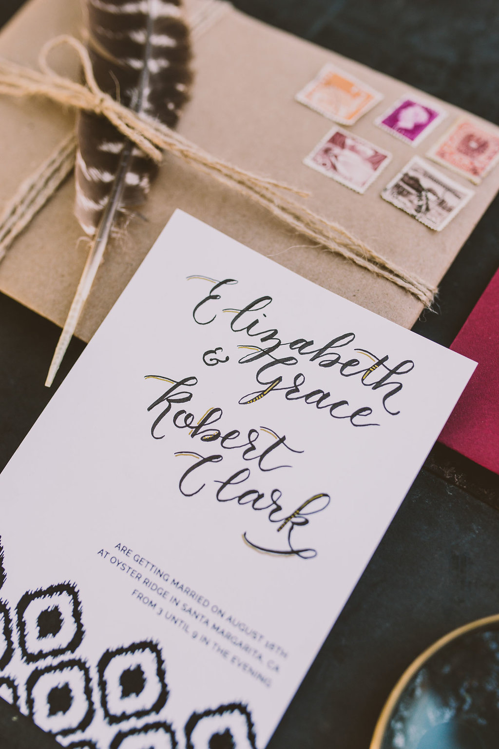 ikat wedding stationery - photo by Michelle Roller http://ruffledblog.com/wild-safari-inspiration-shoot-with-a-jeep