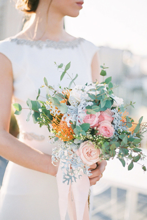 The florals were simple, airy and modern with glam pink blooms