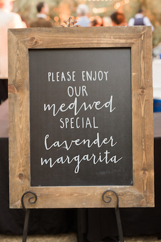 Custom cocktail sign | Jenny Quicksall Photography