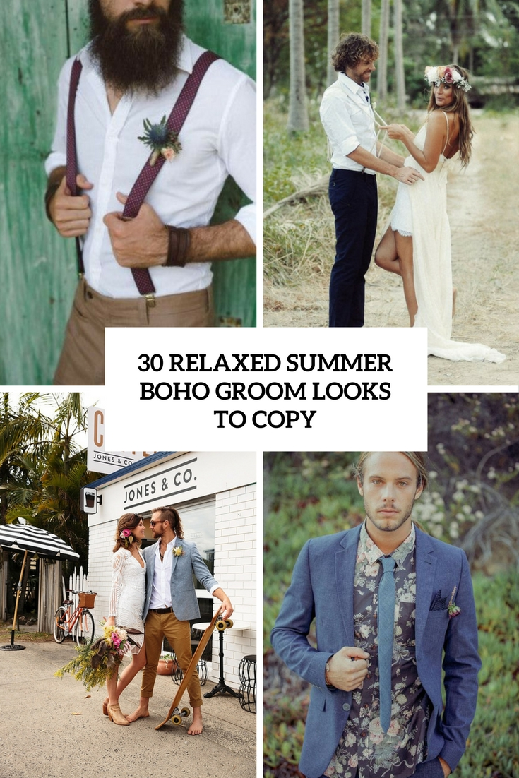 relaxed summer boho groom looks to copy cover