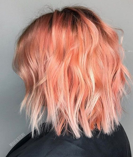 pink and blorange balayage looks colorful