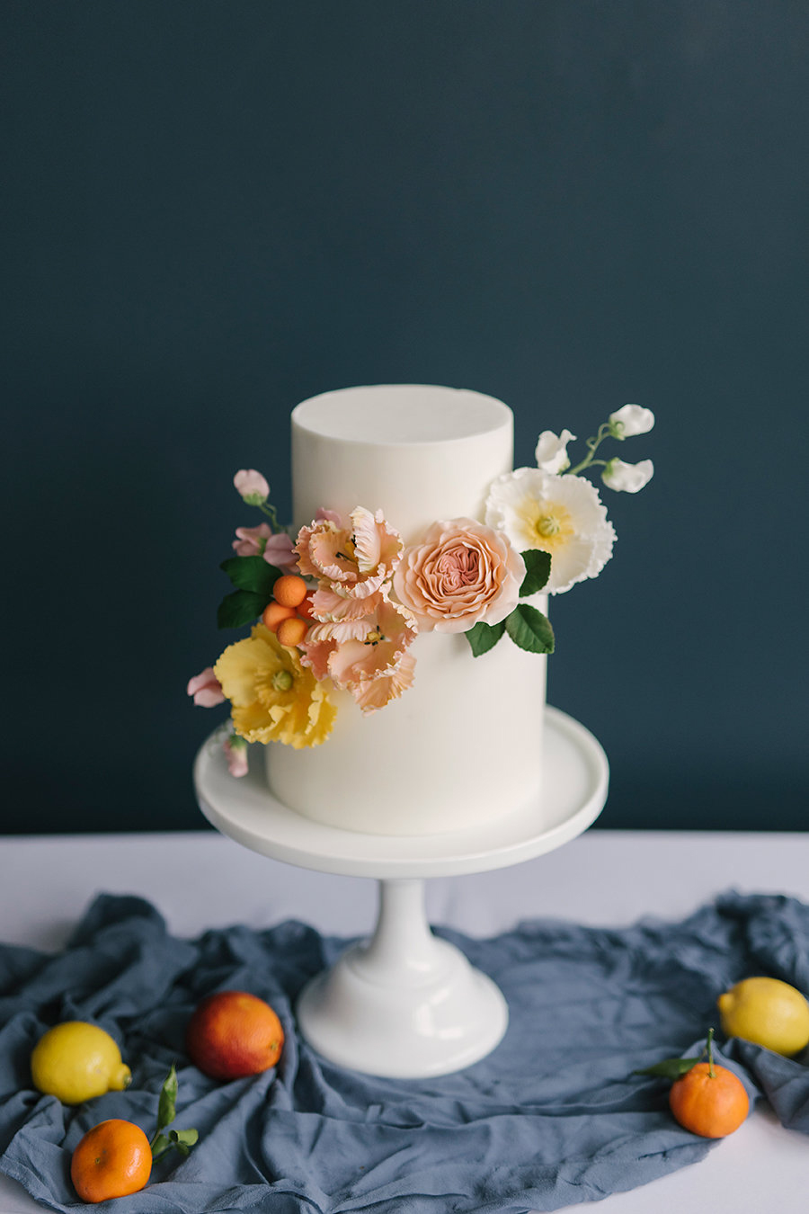 Summertime Citrus Wedding Inspiration - photo by Ashlee Brooke Photography http://ruffledblog.com/summertime-citrus-wedding-inspiration