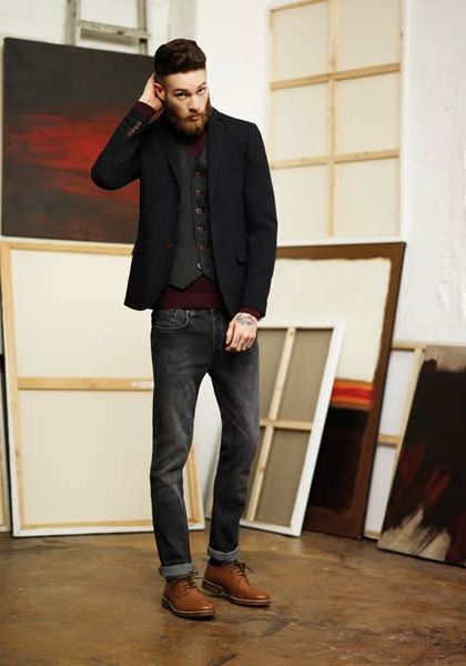 How to wear brown shoes with black pants for men (12)