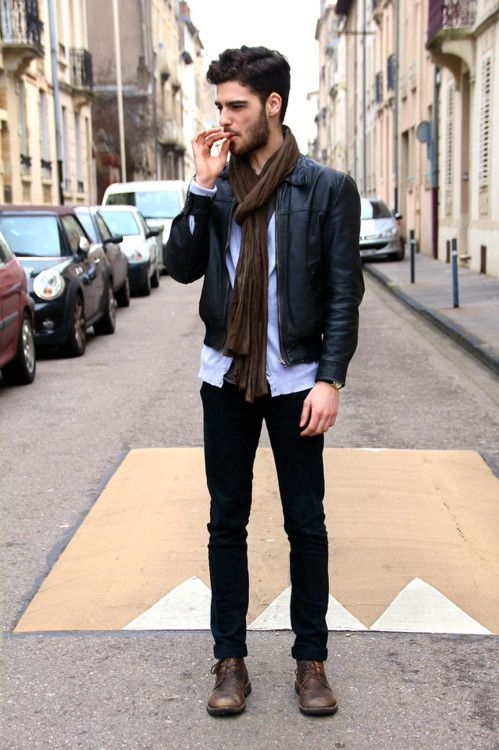 How to wear brown shoes with black pants for men (4)