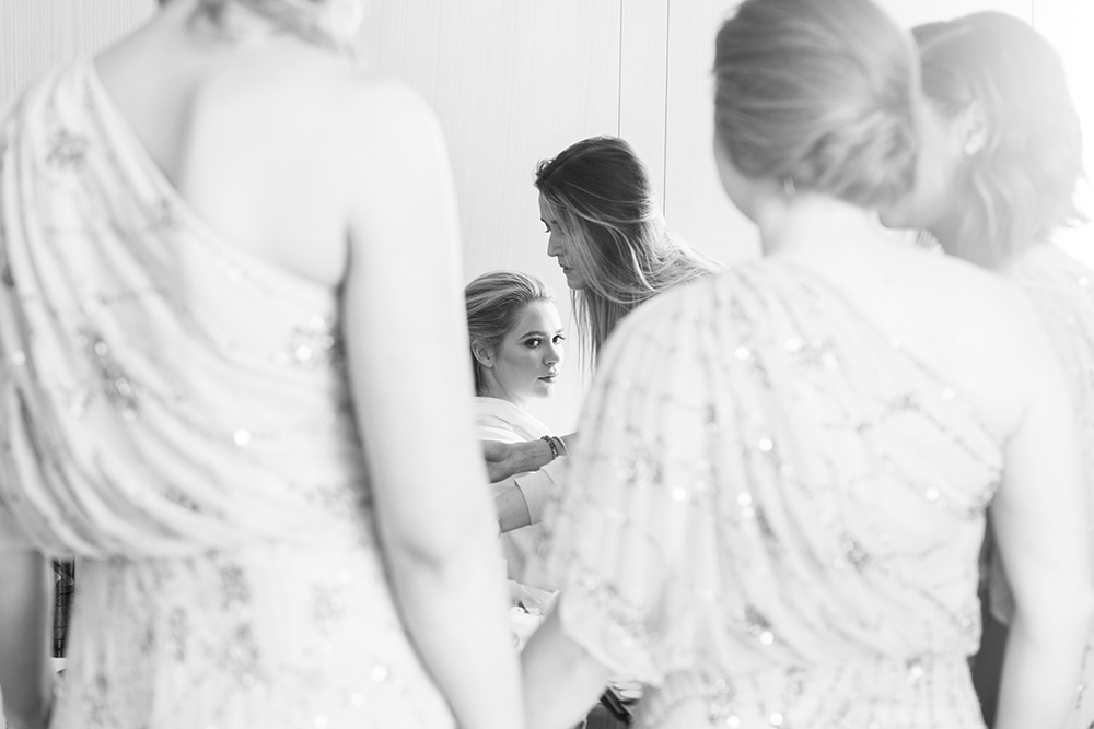 bride getting ready - photo by 5ive15ifteen http://ruffledblog.com/elegant-wedding-at-the-toronto-royal-conservatory-of-music