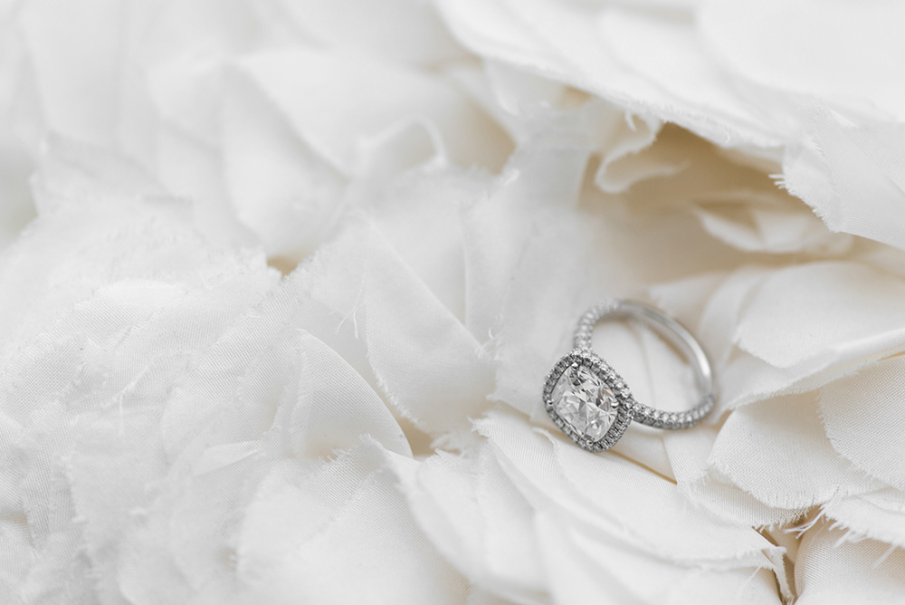 cushion cut engagement rings - photo by 5ive15ifteen http://ruffledblog.com/elegant-wedding-at-the-toronto-royal-conservatory-of-music