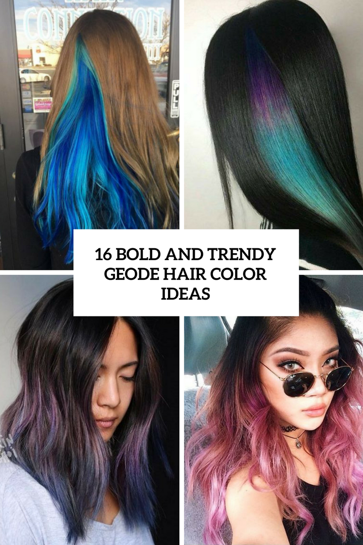 bold and trendy geode hair color ideas cover