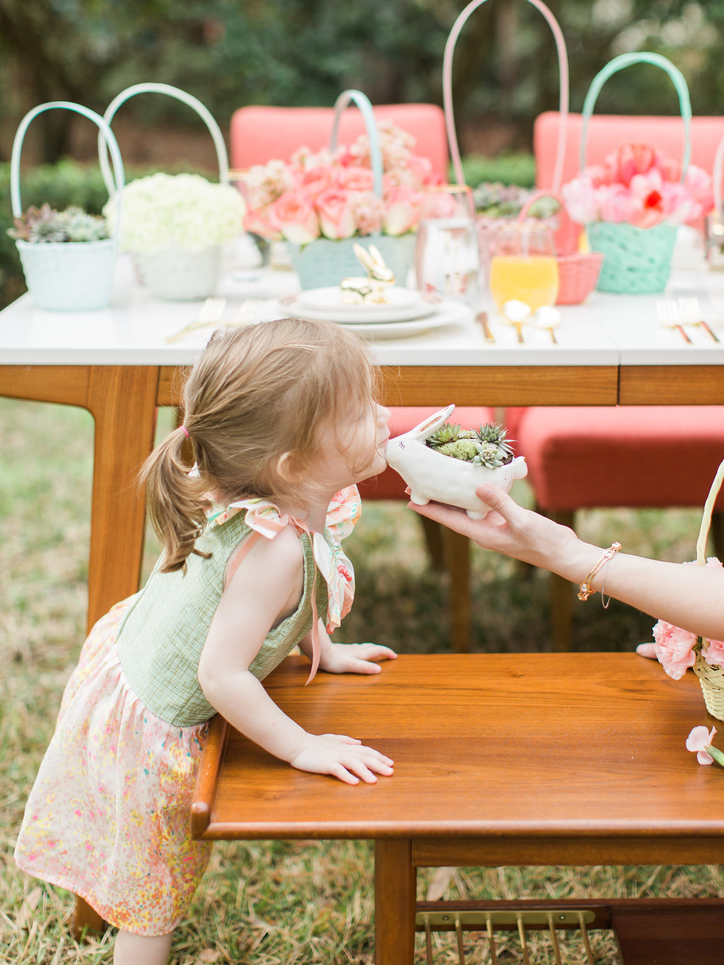 Easter parties for kids - photo by The Happy Bloom http://ruffledblog.com/happy-bright-easter-party-inspiration