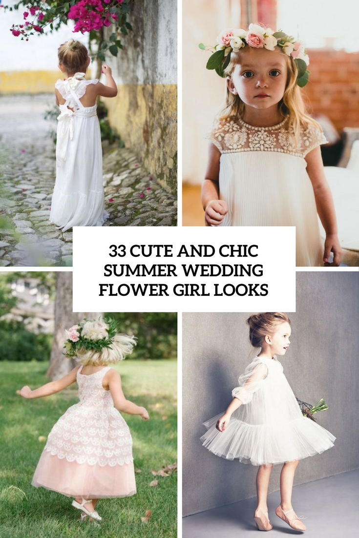 chic and cute summer wedding flower girls looks