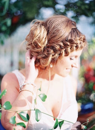 Braided crown hairstyle | Lauren Gabrielle Photography