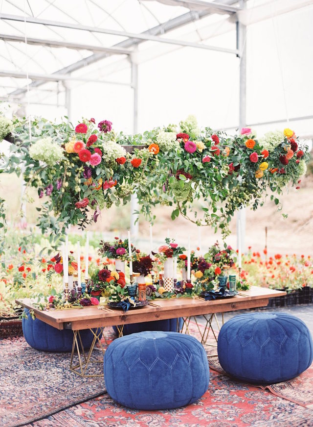 Suspended floral centerpiece | Lauren Gabrielle Photography