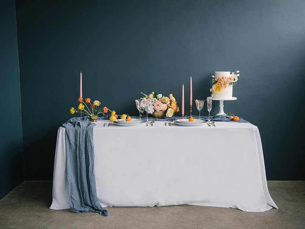 summer wedding inspiration - photo by Ashlee Brooke Photography http://ruffledblog.com/summertime-citrus-wedding-inspiration