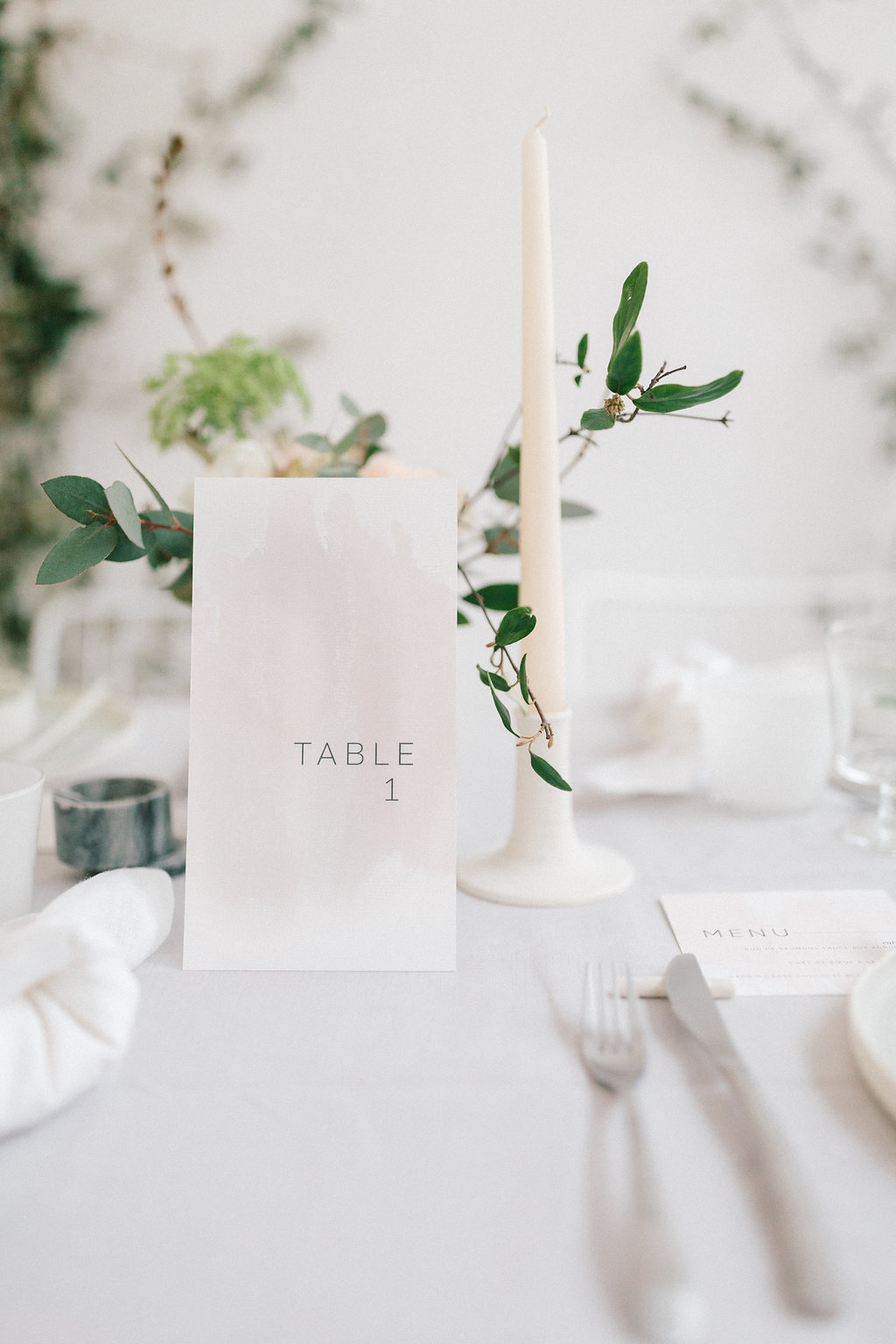 greenery at weddings - photo by Julien Bonjour Photographe http://ruffledblog.com/airy-industrial-wedding-inspiration-for-spring