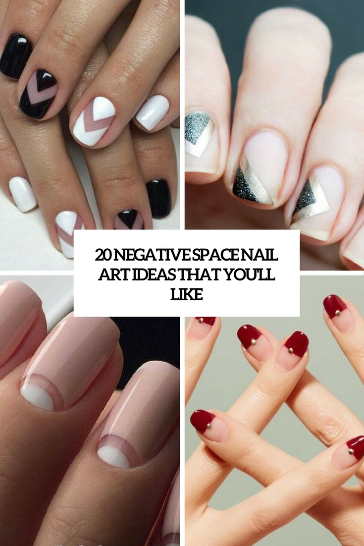 negative space nail art ideas that you'll like cover