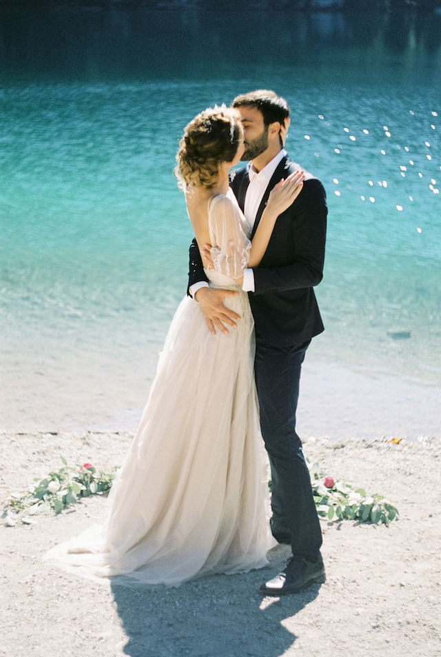 intimate Italian alp lakeside wedding | Wedding