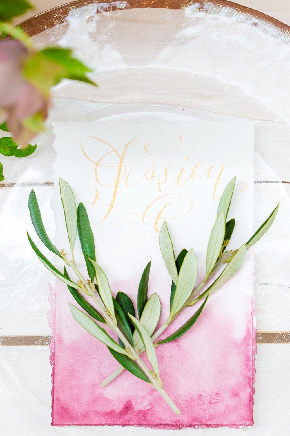 romantic place settings - photo by Lauren Lee Photography http://ruffledblog.com/modern-grecian-inspired-wedding-ideas