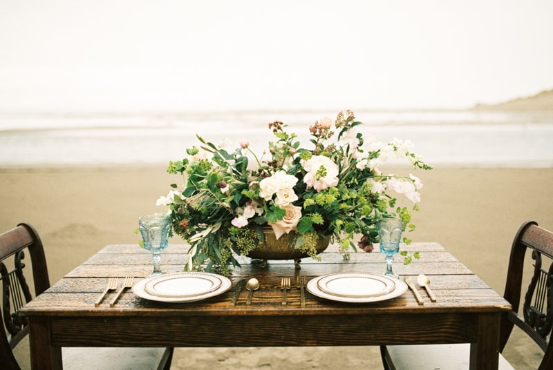 romantic coastal elopement