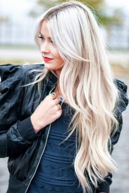 platinum and icy blonde hair balayage