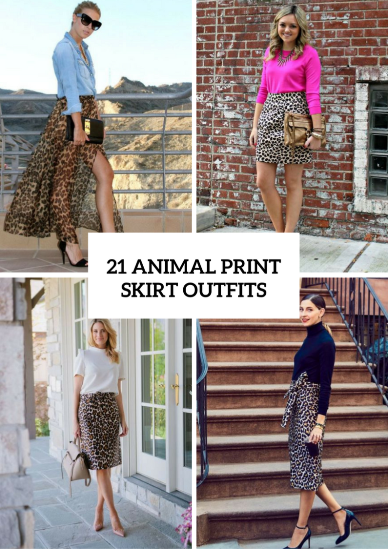 Animal Printed Skirt Outfits To Try