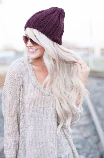 long wavy icy blonde hair is a great idea for summer