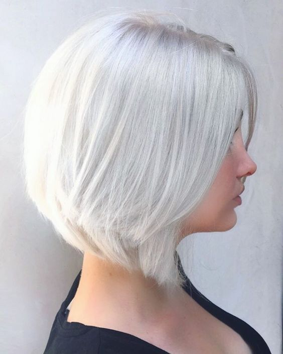 short silver and icy blonde hair