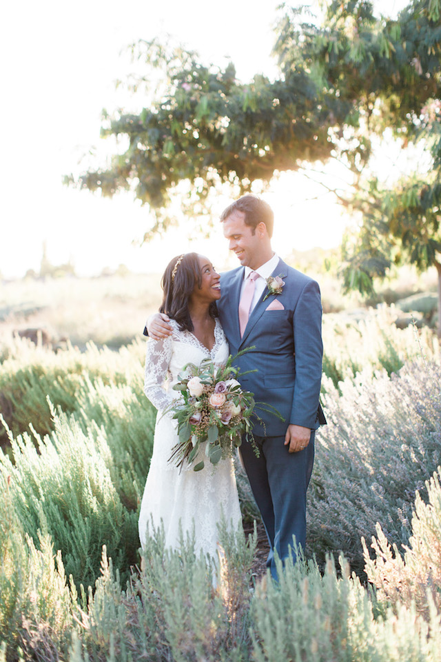 Lavender wedding portraits | Jenny Quicksall Photography