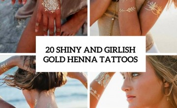 shiny and girlish gold henna tattoos cover