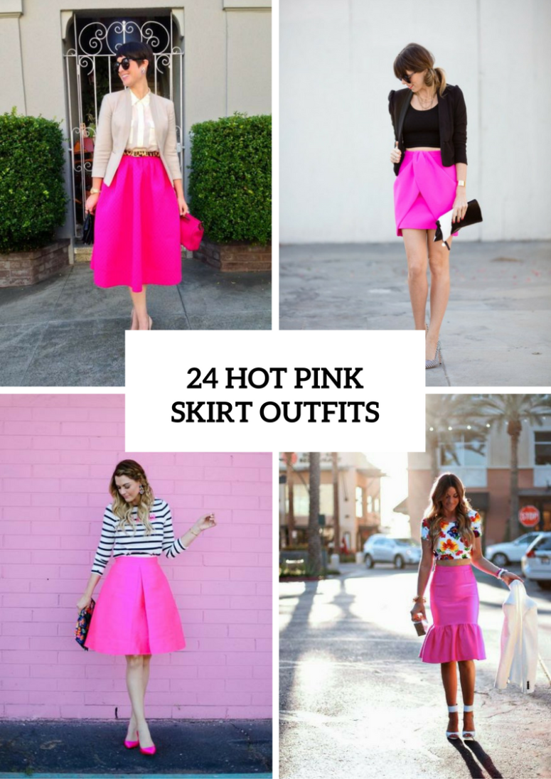 Flirty Outfits With Hot Pink Skirts