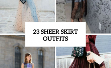 Trendy Outfits With Sheer Skirts