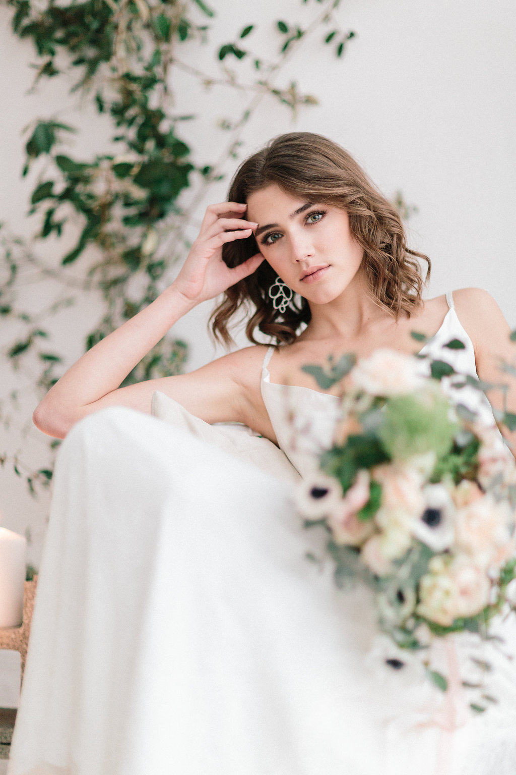 romantic bridal inspiration - photo by Julien Bonjour Photographe http://ruffledblog.com/airy-industrial-wedding-inspiration-for-spring