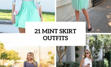 Cool Outfits With Mint Skirts