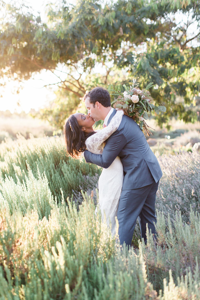 Lavender field wedding portraits | Jenny Quicksall Photography