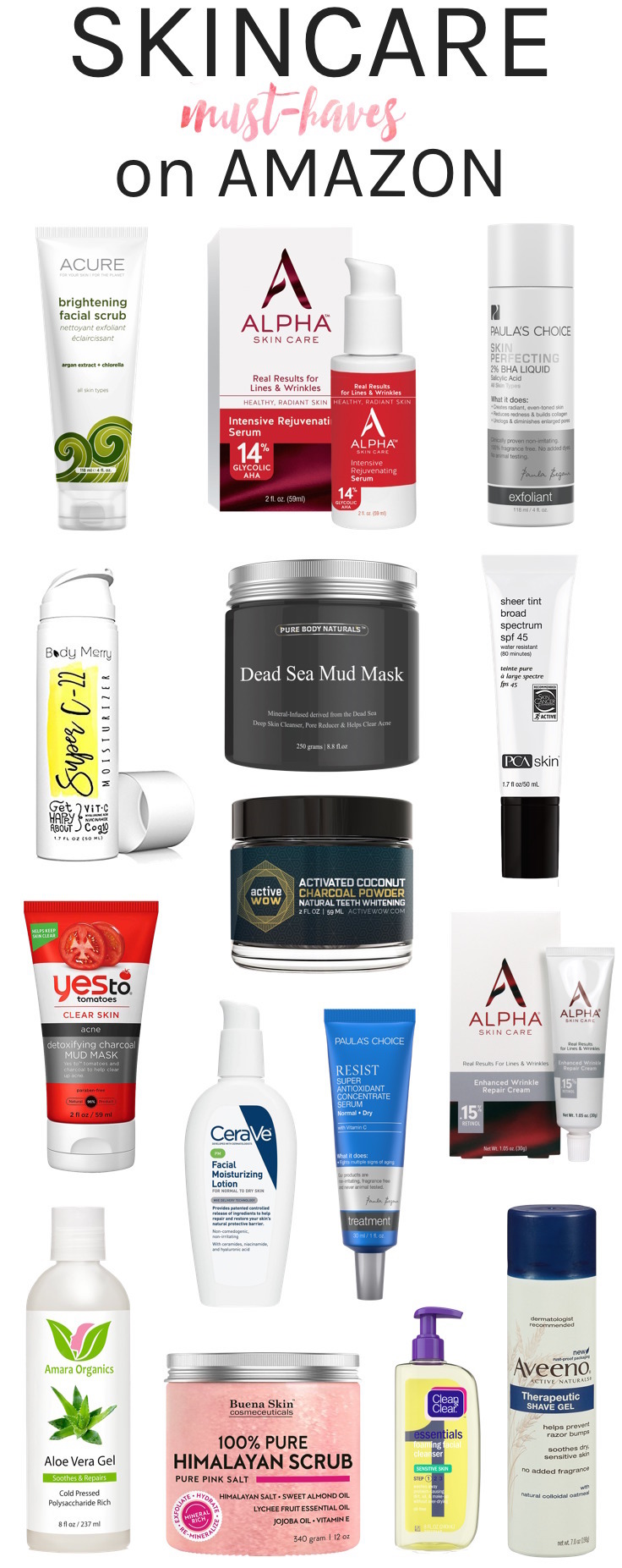 Whether you are dealing with acne, redness, dark spots or wrinkles, here are the best skincare saviors on Amazon (all under $  50) that really work!