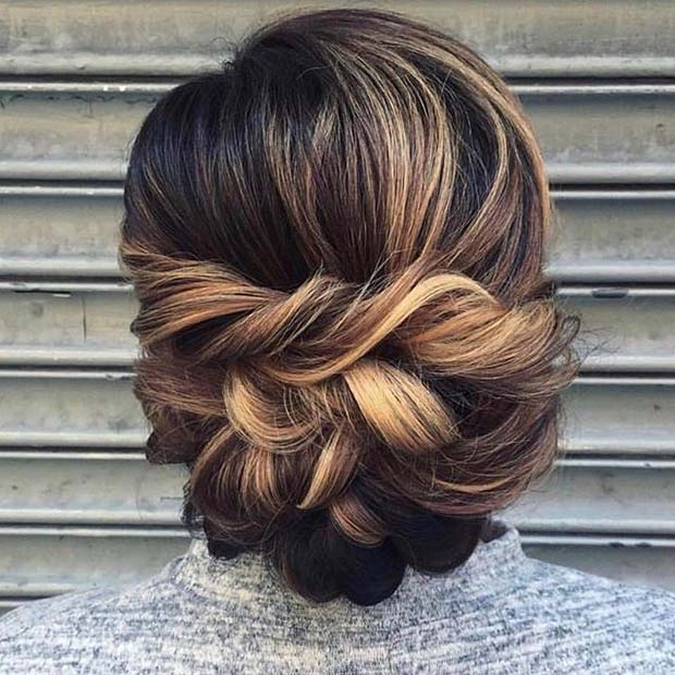 Braided Updo Hair Idea for Prom