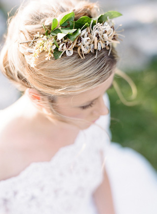 Delicate flower crown | Erika Parker Photography
