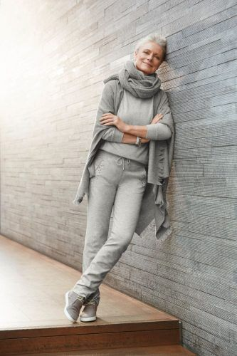 comfortable yet stylish outfit for older ladies
