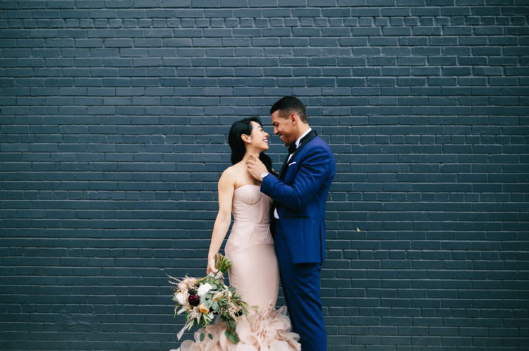 This beautiful couple had a gorgeous industrial meets modern wedding