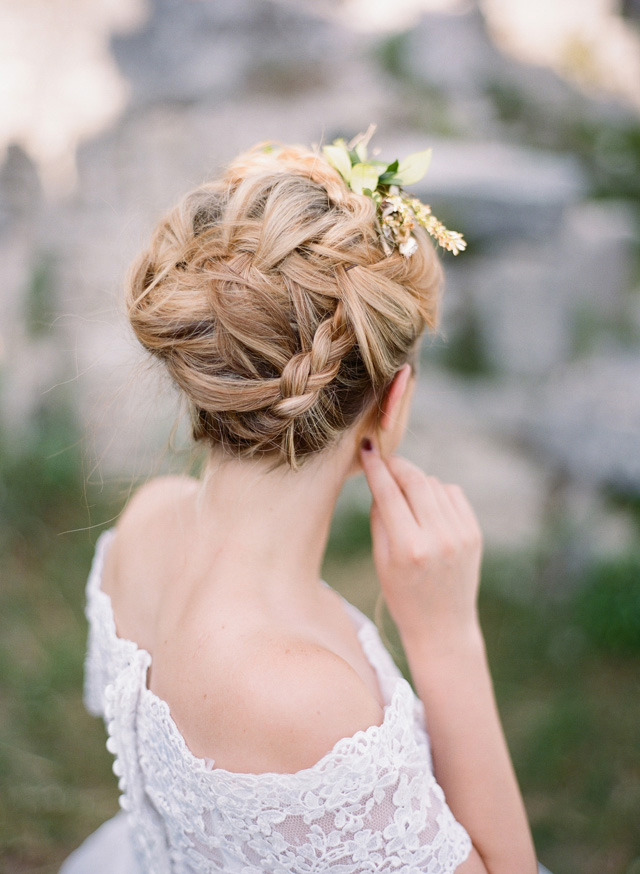 Braided wedding updo | Erika Parker Photography