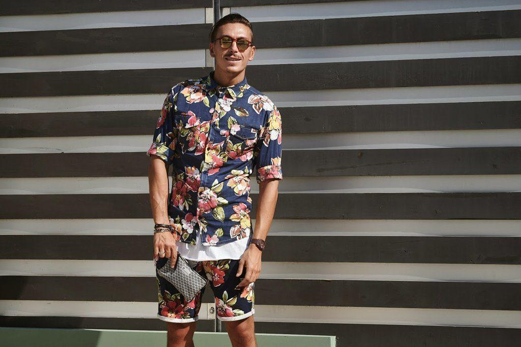 how to wear a floral shirt outfit for men (8)